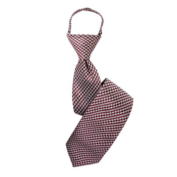 "Boy's 17"" Houndstooth Rust Zipper Tie"