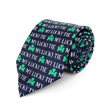 My Lucky Tie Navy Novelty Tie