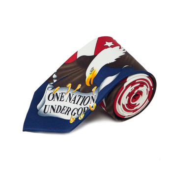 One Nation Under God American Flag Novelty Tie