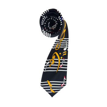 Music Note Black Novelty Tie