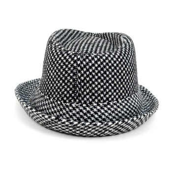 Boy's Fall/Winter Houndtooth Fedora Hats