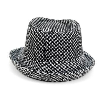 Boy's Fall/Winter Houndtooth Fedora Hats