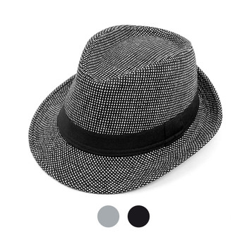 6pcs Two Sizes Boy's Fall/Winter Fedora Hats with Band Trim - BF9385