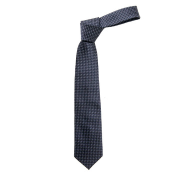 """Boy's 49"""" Geometric Pattern Black Fashion Tie"""