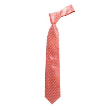 """Boy's 49"""" Geometric Orange Fashion Tie"""