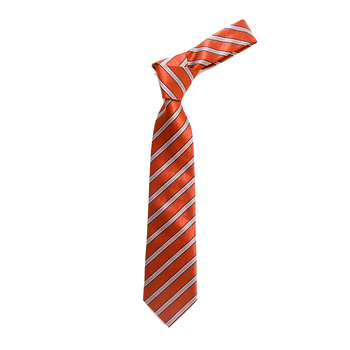 "Boy's 49"" Stripes Orange Fashion Tie"