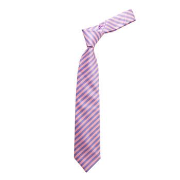 "Boy's 49"" Barber Stripes Pink Fashion Tie"