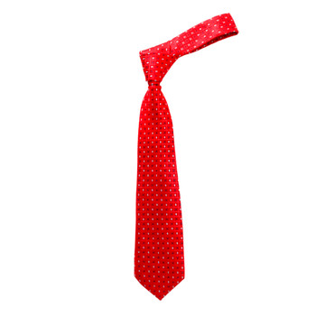 "Boy's 49"" Checkered Red Fashion Tie"