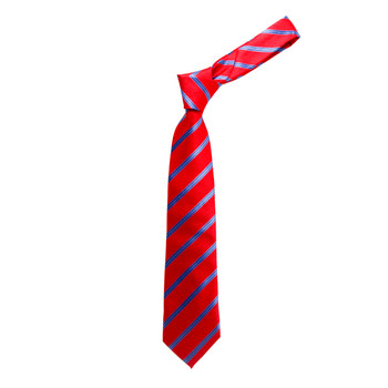 "Boy's 49"" Striped Red Fashion Tie"