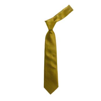 "Boy's 49"" Fish Scale Pattern Yellow Fashion Tie"