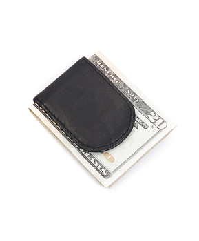 Leather Money Clip MC44BK
