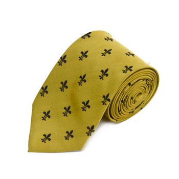 Poly Gold Fleur-de-lis Tie FLT01GDBK