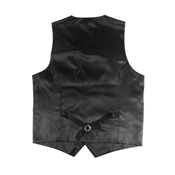 6pc Men's Rayon/Polyester Brown Vests