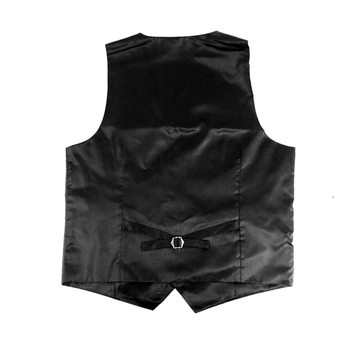 6pc Men's Rayon/Polyester Charcoal Vests