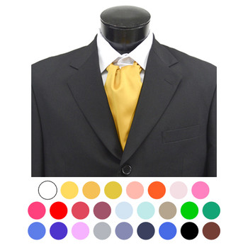 Solid Satin Poly Ascot
