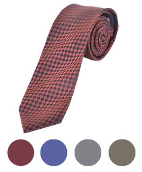 "Microfiber Poly Woven Tie SLIM 2.75"" MPWS5323"