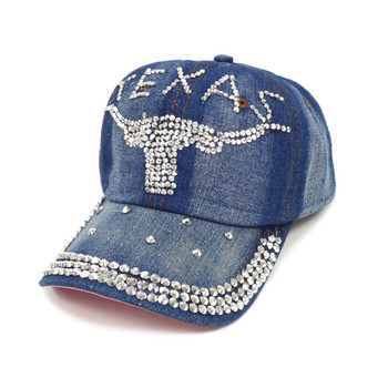 "Bling Studs ""Texas Team"" Denim Cap"