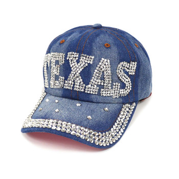 "Bling Studs ""Texas"" Denim Cap"