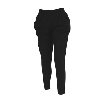 12pc Solid Black Harem Pants