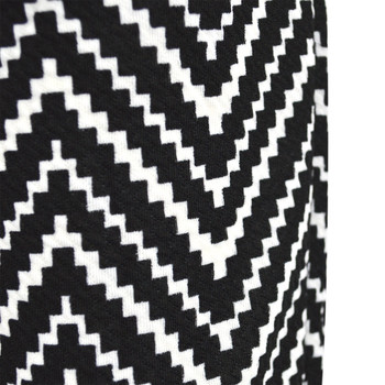 12pc Zigzag Print Black Harem Pants