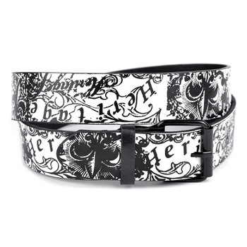 Men's Black Heritage Fleur-De-Lis Buckle Belts (PB2022)