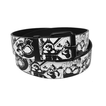Men's White Skull Buckle Belts