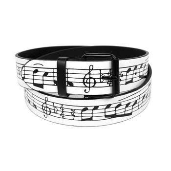 Men's Music Note Buckle Belts