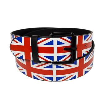 Men's England Flag Buckle Belts