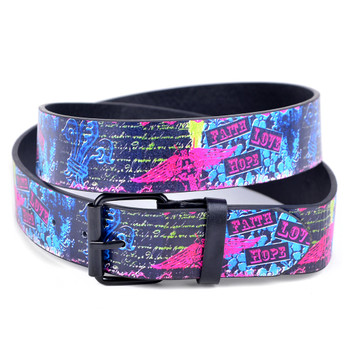 Men's Neon Faith Love Hope Fleur-De-Lis Buckle Belts (PB2039)