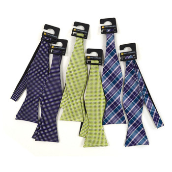 36pc Assorted Micro Woven Freestyle Bow Ties FBMP36ASST