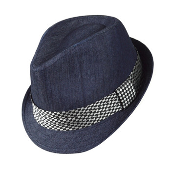 6pc Men's Navy Poly/Cotton Westend Fedora Hats H10335-NV