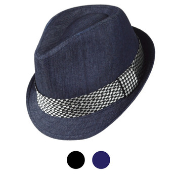 Spring/Summer Poly/Cotton Fedora Hats H10335