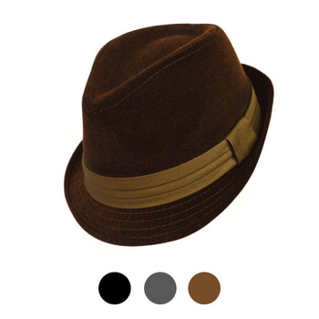 Fall/Winter Poly/Cotton Trilby Fedora Hats H10337
