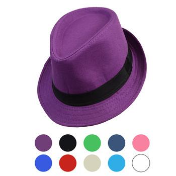 Spring/Summer Solid Trilby Fedora Hat H10342