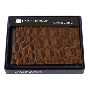 Bi-Fold Genuine Leather Brown Wallet MGLW-CR2448