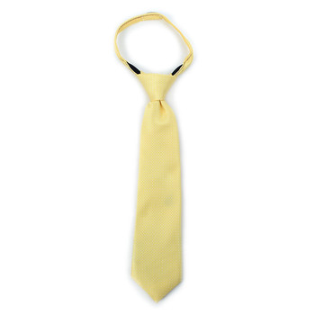 "Boy's 11"" Geometric Yellow Zipper Tie"