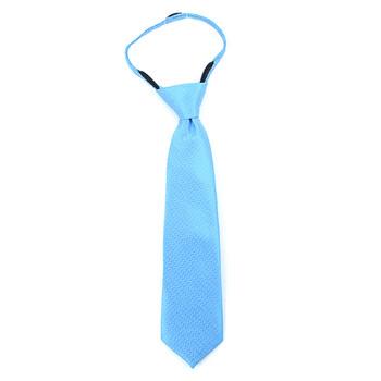 """Boy's 11"""" Zigzag Turquoise Zipper Tie"""