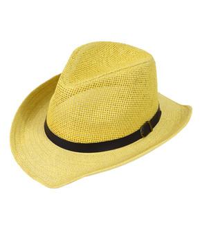 "6pc 2.5"" Brim Cowboy Fedora Hats - H9216"