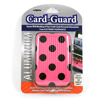 Card Guard Aluminum Compact Wallet Credit Card Holder with RFID Protection - Dot