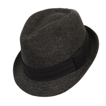 6pcs Two Sizes Fall/Winter Poly/Cotton Westend Fedora Hats-Black