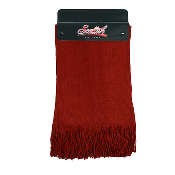 12pc Assorted Pack Unisex Acrylic Winter Scarves with Tassels - AS1000
