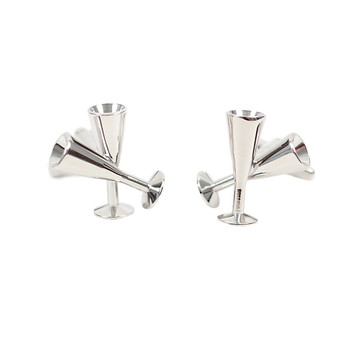 Silver Champagne Glass Novelty Cufflinks NCL1701