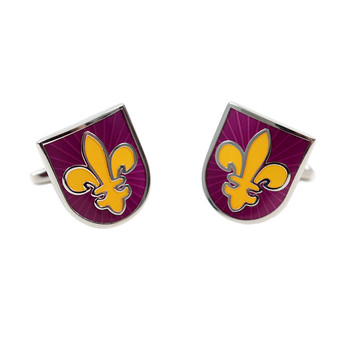 Purple Fleur de Lis Novelty Cufflinks NCL1703