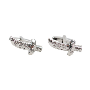 Silver Pirate Dagger Sword Novelty Cufflinks NCL1705-1