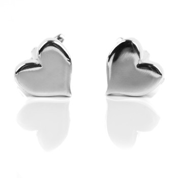 Silver Love Heart Novelty Cufflink NCL1708-1