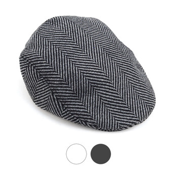6pc Two Sizes Men's Fall/Winter Herringbone Ivy Hat-H9414-15