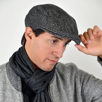 Men's Fall/Winter Herringbone Ivy Hat-H9412