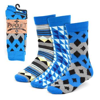 24-Packs (72 Pairs) Assorted Men's Casual Fancy Socks 3PKS/ASST