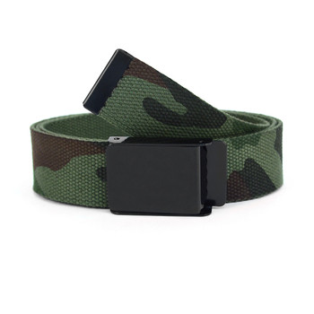 12pc Size Assorted Men's Flip-To Buckle Military Camo Canvas Belt MILB3303