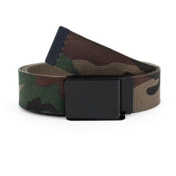12pc Size Assorted Men's Flip-To Buckle Military Camo Canvas Belt MILB3304